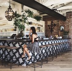 This is a really charming bar. The design along the counter definitely catches the eye for any passerby!