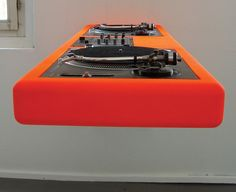 Wall mounted DJ decks by Metrofarm...I HAVE to have this...