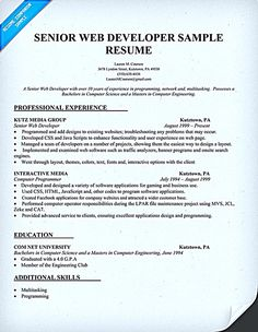 web developer resume objective web developer resume is needed when someone want to apply a job as a web developer a web developer is actually a programmer