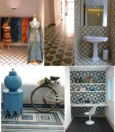 Handmade cement tile by Popham Design