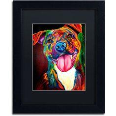 Trademark Fine Art Smile Time Canvas Art by DawgArt, Black Matte, Black Frame, Size: 11 x 14