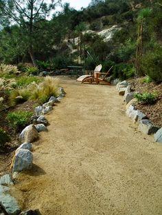 Solana xeriscape, cameron flagstone, drought tolerant, terrace retaining walls - craftsman - Landscape - San Diego - The Design Build Company