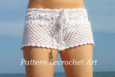 Crochet pattern white beach shorts and shorts color of summer - pattern PDF
