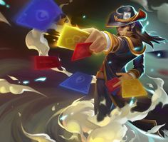 2 by super tang on ArtStation. Lol Of Legends, League Of Legends Game, Fantasy Character Design, Character Design Inspiration, Character Art, Magician Art, Lol Champ, Twisted Fate, Fantasy Inspiration