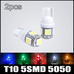 Free Shipping 5SMD T10 W5W 194 5050 Cree LED Reverse Backup Light Bulb 7W Super Light Bulb Side Wedge Light Bulb Lamp 2pcs/lot $3.31 - 3.36