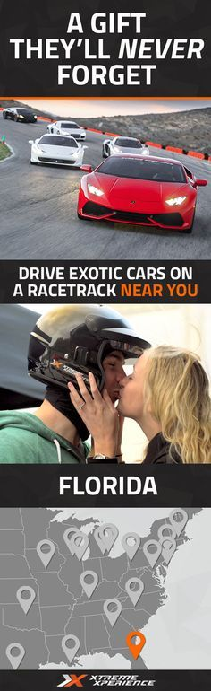 It's never been easier to give a gift to the guy who has everything. Driving a Ferrari, Lamborghini, Porsche or other exotic sports car on a racetrack is a unique gift idea that is guaranteed to leave a smile on his face, a good story to tell and a life-long memory. Xtreme Xperience brings the thrill of a lifetime to you at the Florida Intl Rally & Motorsports Park in Jacksonville from Nov. 4-5, 2016. Reserve your SupercarTrack Xperience today for as low as $219. Space is limited!