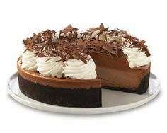 silky chocolate cheesecake topped with a layer of belgian chocolate mousse ('the cheesecake factory')...