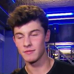 Imagine Shawn has a crush on you and towards him and when you walk into the studio he looks at you like that
