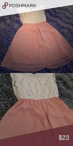 Pink and white lace top chiffon skirt dress Never worn Dresses