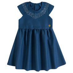 Vestido Infantil em Tecido Jacquard Milon