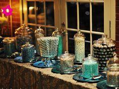 Mesa de dulces para boda elegante