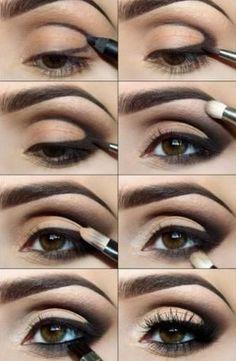 схема как сделать вечерний макияж, make up #dramaticmakeup