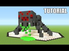 In this video I will be showing you guys how to build a really cool Spider survival house in Minecraft. This house comes from the latest episode of my series. Minecraft Pictures, Minecraft Videos, Lego Minecraft, Minecraft Crafts, Minecraft Designs, Minecraft Buildings, Minecraft Stuff, Boys Minecraft Bedroom, Minecraft Statues