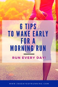 6 tips to wake early for a morning run (and the benefits) - 366 Days of Running Running Routine, Running Plan, Running Tips, Running Women, Race Training, Marathon Training, Running For Beginners, Health And Fitness Tips, Women's Fitness