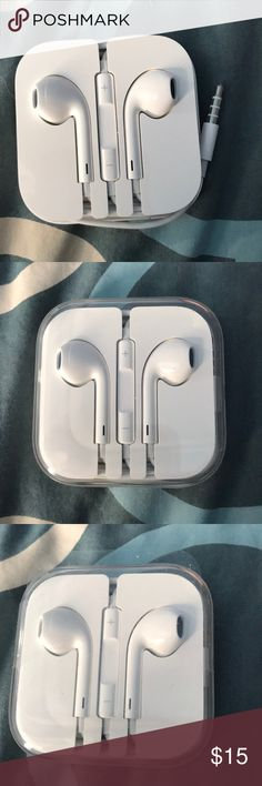 Brand new Apple Headphones Brand new, still in box-Apple Headphones. This has the headphone jack. Never used. Apple Other