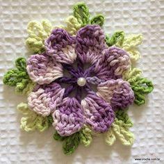 FLOR CATAVENTO PASSO A PASSO- http://www.croche.com.br/flor-catavento-passo-a-passo/