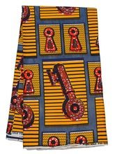 Deluxe African Real Wax Prints Fabric Nigeria Red Key 100% Cotton 6 Yards rw47201(China (Mainland))