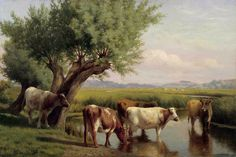 Maytime on the Thames William Sidney Cooper (1854-1927) was an English landscape painter, best known for his paintings of the countryside ar...