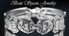 Silver Spoon Bracelet -  Vintage Campbells Soup Kids 1964 recycled Silver Spoon Bracelet.. Silverware jewelry. $32.00 USD, via Etsy.