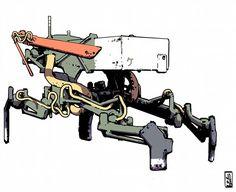 Sketch #janburagay #落書き #scifi #draw #art #メカ #walker #mech #cyberpunk #ロボット #筆ペン #ink #doodle #illustration #drawing #スケッチ #イラスト