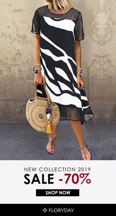 Color Block Tunic Round Neckline Midi Shift, Dress - Black / S Women's Fashion Dresses, Casual Dresses, Summer Dresses, Midi Dresses, Trendy Dresses, Vestidos Sexy, Tunic Pattern, Buy Dress, Shirt Dress