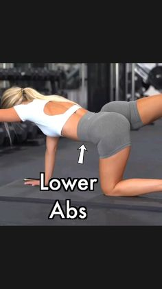 Gym Workout For Beginners, Fitness Workout For Women, Fitness Tips, Body Weight Leg Workout, Lower Belly Workout, Abs Workout Routines, Workout Videos, Easy Workouts, Sport