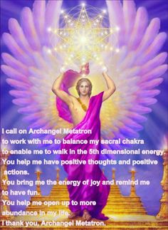 I Call On Archangel Metatron <3  <3 and I know and I believe that I will recieve all my needs and what I mean <3