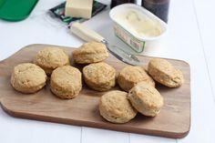 Garlic Cheddar Beer Biscuits using KAF's Self Rising Flour via @bakeyourday .