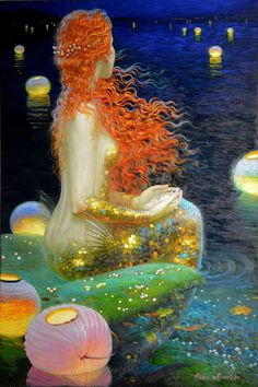 Home Decor Hd Prints Oil Painting Art On Canvas Wall Art Fantasy Mermaids & Garden Mermaid Fairy, Mermaid Tale, Fantasy Mermaids, Mermaids And Mermen, Victor Nizovtsev, Mermaid Artwork, Poses References, Merfolk, Fine Art Gallery