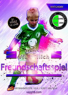 Wir spielen auswärts am Dienstag, den 31. März um 16 Uhr gegen VfL Willich ein Freundschaftsspiel.