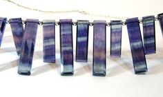 Rainbow Fluorite Necklace Natural Stone Statement Necklace
