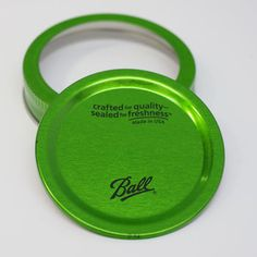 Great for home canning and other creative uses, these limited edition color lids in green contrast the standard silver. Get them while supplies last!