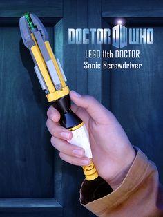 super lego sonic screwdriver... very cool