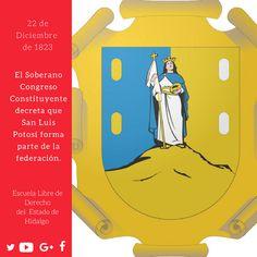 #UnDíaComoHoy pero de 1823, el Soberano Congreso Constituyente decretó que #SanLuisPotosí forma parte de la federación. #HistoriaDeMéxico #ELDEH #ConoceTuHistoria