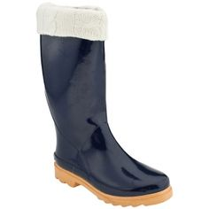 Sporto Nova Rain Boots Womens Blue Rubber - Was $49.00 - SAVE $20.00. BUY Now - ONLY $28.98.