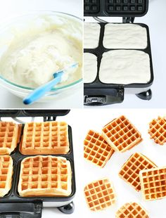 The perfect fluffy gluten free waffles made with yogurt and just a touch of sugar, with a lightly crisp outside. The gluten free breakfast of champions! Gluten Free Waffles, Gluten Free Flour, Gluten Free Baking, Gluten Free Recipes, Breakfast Waffles, Pancakes, Fluffy Waffles, Gluten Free Breakfasts, Foods With Gluten