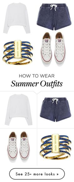 """""""summer outfit on fleek"""" by nsoliveras-1 on Polyvore featuring Michael Kors, Acne Studios, Converse, women's clothing, women, female, woman, misses and juniors #juniorscuteclothes"""