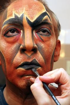 "Uncle Scar Stage makeup from the Lion King- not sure if this falls under the ""quick design"", but it's cool.:"