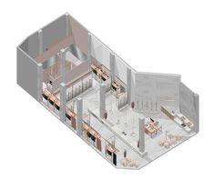 Image 14 of 14 from gallery of AMARO Guide Shop / SuperLimão Studio. Retail Architecture, Architecture Collage, Light Architecture, Cafe Design, Store Design, Store Plan, Boutique Decor, Interior Sketch, Interior Design