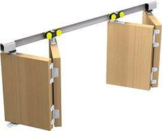 Mantion Schiebetürbeschlag Tango 40-180 für 2x Falttür Faltschiebetür bis 180 cm