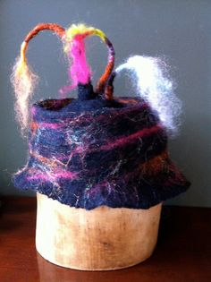Happy Child's Party Hat In merino wool by StudioMforGood on Etsy, $155.00