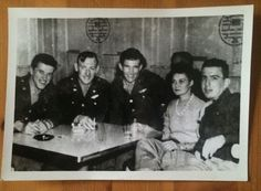 WWII Photograph Out for Drinks Nightclub B-26 Invader Pilots Before Deployment