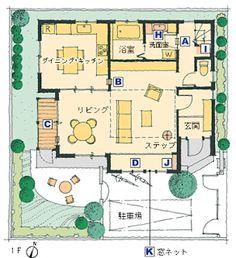 Planta do térreo da Plus-Nyan House, do arquiteto japonês Asahi Kasei, totalmente adaptada para gatos: passarelas, túneis, portinholas, solário protegido etc.