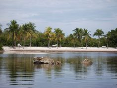 One of the beaches at John Pennecamp State Park, Key Largo.