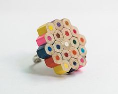 Items similar to Unique gift cool fun wood ring for women, Sterling silver statement rainbow ring, Big contemporary ring for her, Colorful wood ring on Etsy Creative Gifts, Unique Gifts, Rainbow Wood, Rings For Her, Handmade Jewelry, Handmade Gifts, Wood Rings, Minimalist Earrings, Modern Jewelry