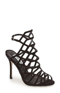 Free shipping and returns on Steve Madden 'Slithur' Sandal (Women) at Nordstrom.com. Tiny, gleaming studs illuminate a breathtaking cage sandal lifted by a slim stiletto heel.