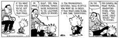 Calvin and Hobbes, April 14, 1988 - For example, you might repeal mandatory school attendance. That alone could rocket you to victory.