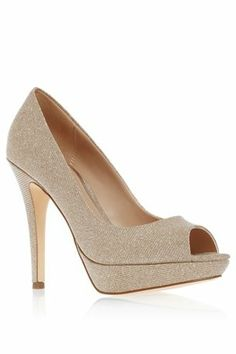 Buy Silver Shimmer Peep Toe Platform Court Shoes from the Next UK online shop