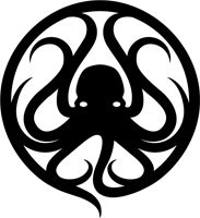 "Novem Collective #octopus logo. ""We prefer to be referenced to as a collective. But nine of us started it, and that's what our name means in Latin. And our logo is an octopus with nine tentacles"" haha"