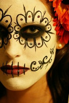 Sweet day of the dead makeup